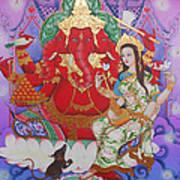 Ganesha  Laksami Art Print