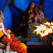 Ganesha Worship Art Print