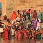 Ganges Pilgrims Art Print