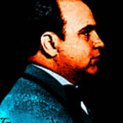 Gangman Style - Al Capone C28169 - Black - Painterly Print by Wingsdomain Art and Photography