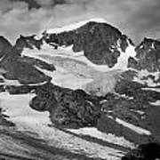 509427-bw-gannett Peak And Gooseneck Glacier, Wind Rivers Art Print