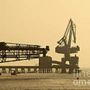Gantry Crane In Port Art Print
