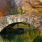 Gapstow Bridge In Central Park Art Print