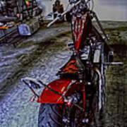 Garage Kept Chopper Art Print