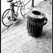 Garbage Bike  Art Print