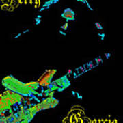 Garcia Rocks At Winterland 1977 Art Print
