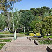 Garden At Montjuic In Barcelona Art Print