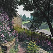 Garden At Pendarvis Mineral Point Wisconsin  1 Art Print