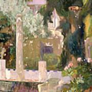 Garden At The Sorolla House Art Print