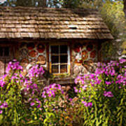 Garden - Belvidere Nj - My Little Cottage Art Print by Mike Savad