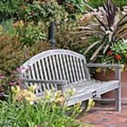 Garden Benches 3 Art Print