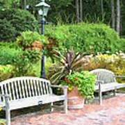 Garden Benches 7 Art Print