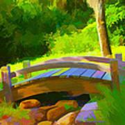 Garden Bridge Art Print