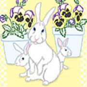 Garden Bunnies Art Print