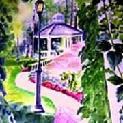 Garden City Gazebo Art Print