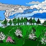 Garden Clouds Art Print
