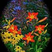 Garden Color Delight Art Print