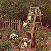 Garden Decorations Art Print by Kay Pickens