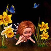 Garden Elf Art Print