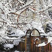 Garden Gate In Winter Art Print
