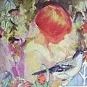 Garden Girl - Antique Collage Art Print