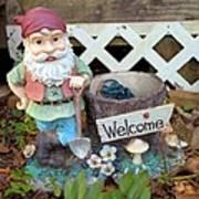 Garden Gnome - Square Art Print