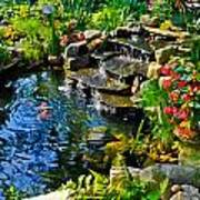 Garden Goldfish Pond Art Print