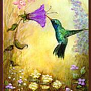 Garden Guest In Brown Art Print