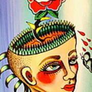 Garden Head Art Print