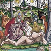 Garden Of Eden Historiae Animalium Art Print