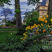 Sunset At Garden Of Les Invalides Art Print