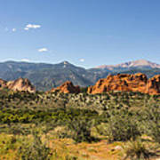 Garden Of The Gods And Pikes Peak - Colorado Springs Art Print