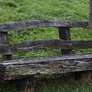 Garden Park Bench Art Print