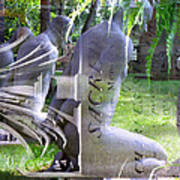 Garden Sculpture Art Print
