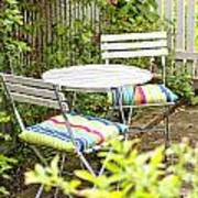 Garden Seating Area Art Print