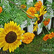 Garden Show-offs Art Print