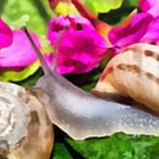 Garden Snails Art Print