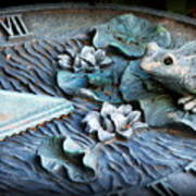 Garden Sundial Art Print