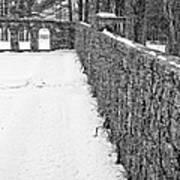 Garden Wall The Mount In Winter Art Print