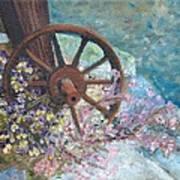 Garden Wheel Art Print
