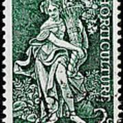 Gardening And Horticulture Vintage Postage Stamp Print Art Print