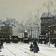 Gare Du Nord Paris Art Print by Eugene Galien-Laloue