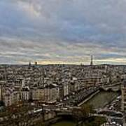 Gargoyle And The Eiffel Tower Art Print