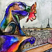 Gargoyle Of Color Art Print