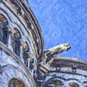 Gargoyle On Sacre Coeur Art Print