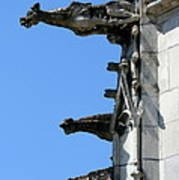 Gargoyles In A Row Art Print