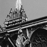 Gargoyles King's College Chapel Tower Art Print