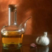 Garlic And Olive Oil. Art Print