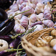 Garlic At The Market Art Print by Heather Applegate