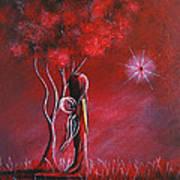 Garnet Fairy By Shawna Erback Art Print by Shawna Erback